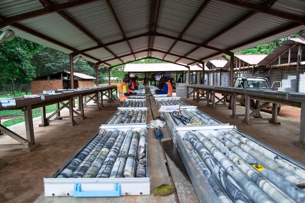 Core logging and storage at Adumbi camp - November 2020