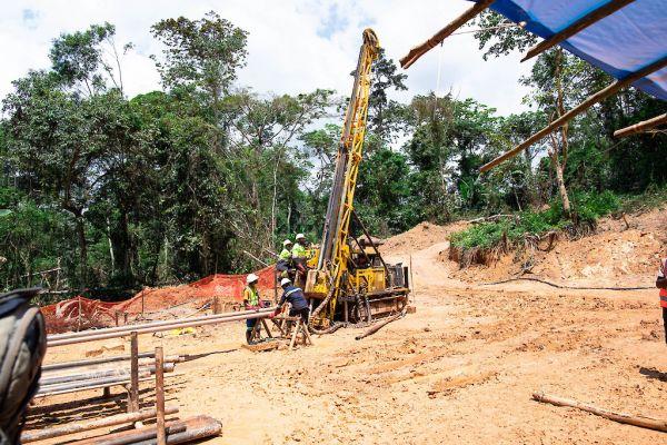 Diamond drill rig at Adumbi - November 2020