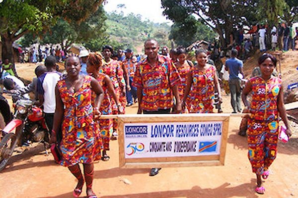 Loncor Employees Celebrating the 50th Anniversary of DRC Independence